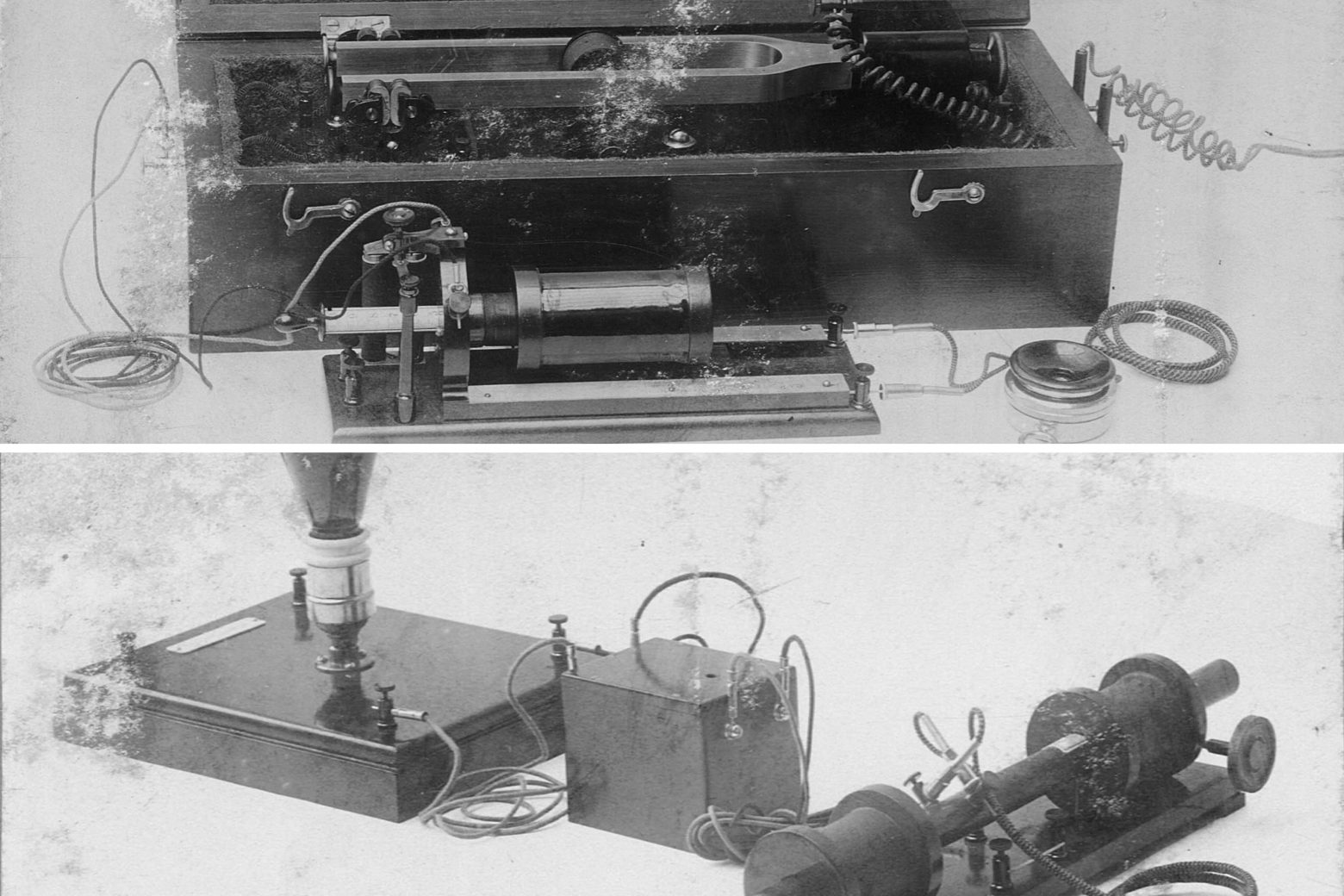 这段时期为电子助听器开发的初期,集团早期成员Reiniger、Gebbert及Schall等人开始打造电子听力仪,利用特殊槌子引起电磁线圈运作以发出铃声。